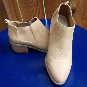 American Eagle Outfitters Taupe Suede Booties